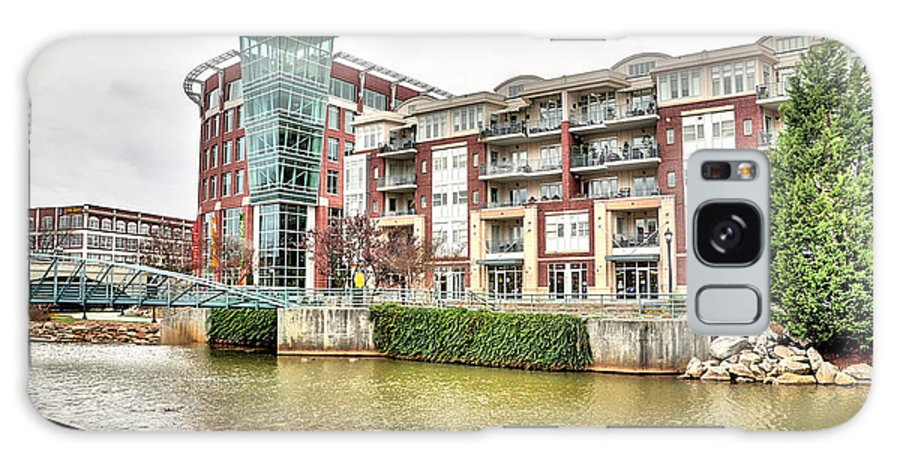 Greenville Sc Galaxy S8 Case featuring the photograph Greenville River Front by Sonja Dover