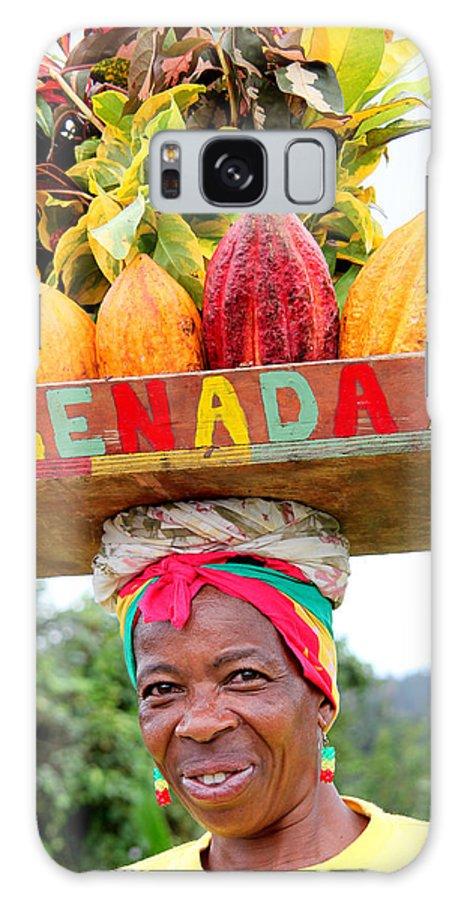 Grenada Galaxy S8 Case featuring the photograph Grenada Spice Woman. by Oscar Williams