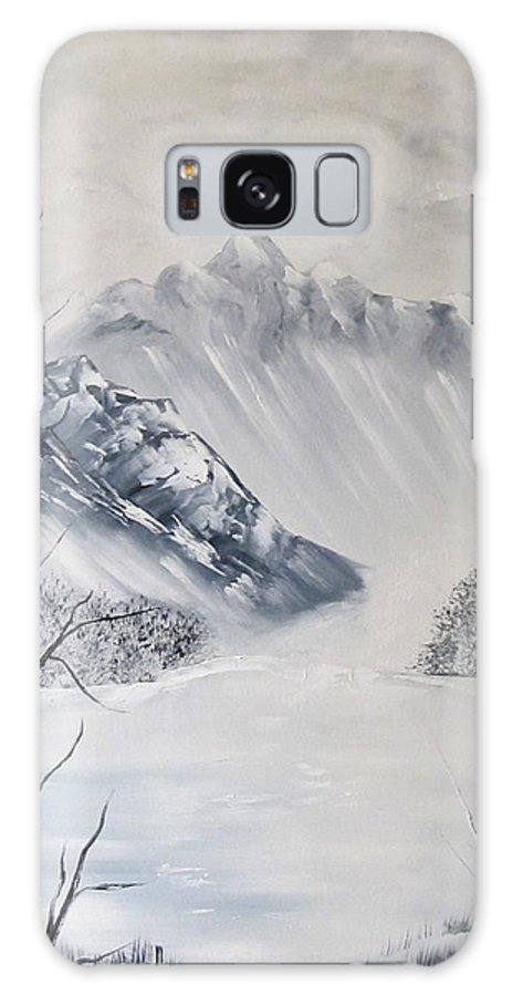 Mountain Galaxy S8 Case featuring the painting Grey Mountains by Larry Marano