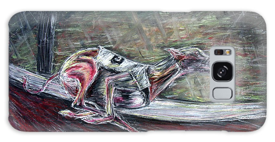 Dog Galaxy Case featuring the drawing Greyhound Number Three by Tom Conway