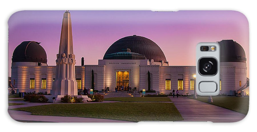 Griffith Galaxy S8 Case featuring the photograph Griffith Observatory by Eddie Yerkish