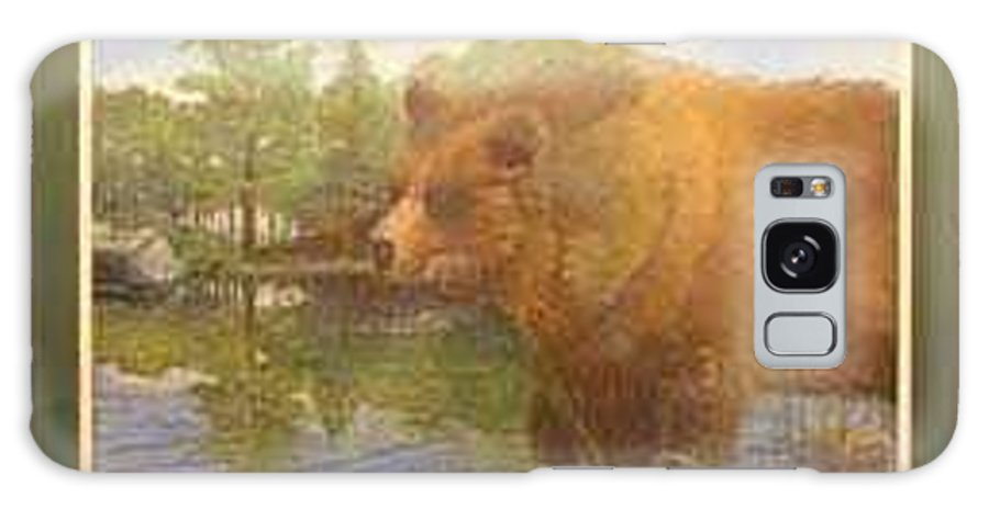Rick Huotari Galaxy S8 Case featuring the painting Grizzly by Rick Huotari