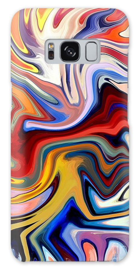 Abstract Galaxy S8 Case featuring the digital art Groovalicious by Chris Butler