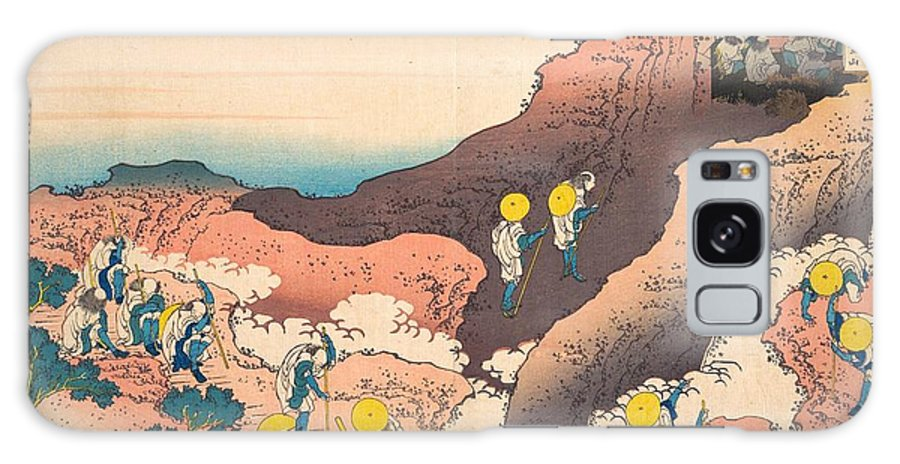 1830-1832 Galaxy Case featuring the painting Groups Of Mountain Climbers by Katsushika Hokusai