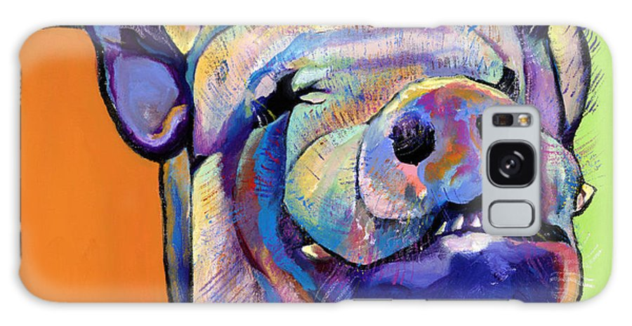 Pat Saunders-white Canvas Prints Galaxy S8 Case featuring the painting Grunt  by Pat Saunders-White