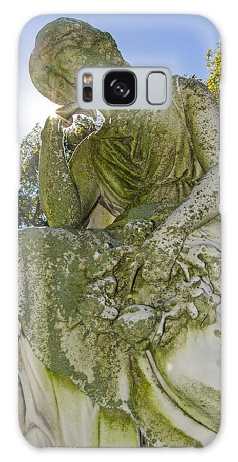 Statue Galaxy S8 Case featuring the photograph Guardians Of The Departed 3 by Susan McMenamin