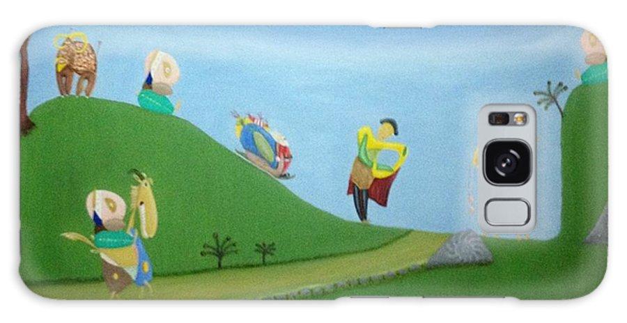Nature Galaxy S8 Case featuring the painting Guerra De Garabatos by Jaime Zamora