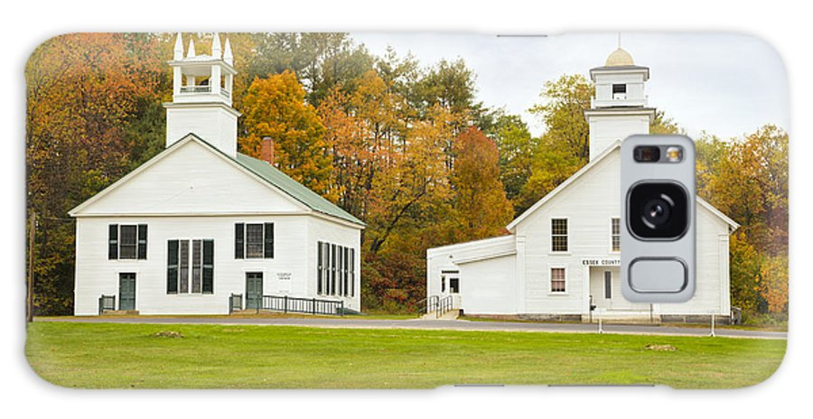 Guildhall Village Galaxy S8 Case featuring the photograph Guildhall Village Historic District In Autumn Vermont by Ken Brown