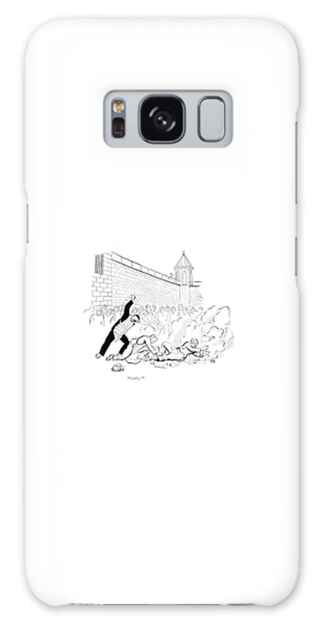 110606 Cro Carl Rose Galaxy S8 Case featuring the drawing Guilty by Carl Rose