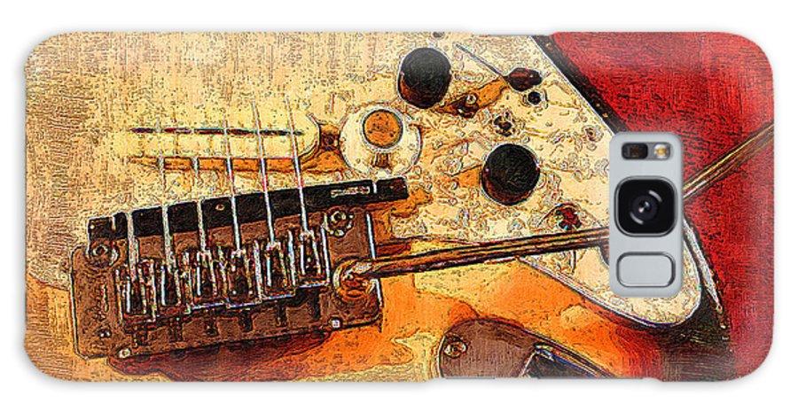 Galaxy S8 Case featuring the digital art Guitar Fender by Philip Dammen