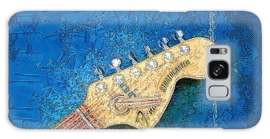 Music Galaxy S8 Case featuring the digital art Guitar Head by Philip Dammen