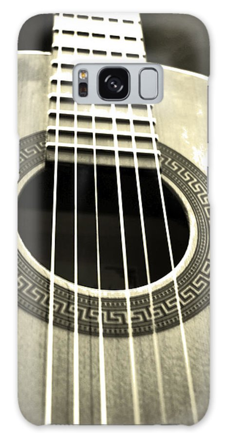 Greek Key Galaxy S8 Case featuring the photograph Guitar by Katina Borges