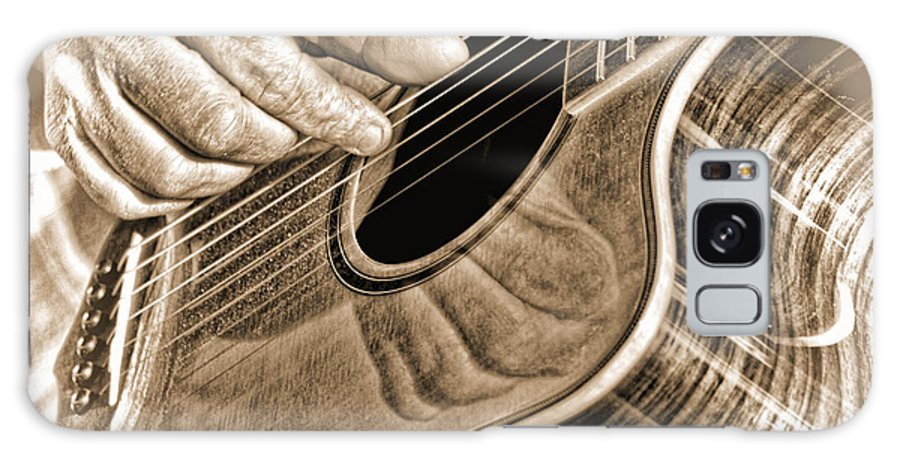 Guitar Galaxy S8 Case featuring the photograph Guitar Player by Heather Provan