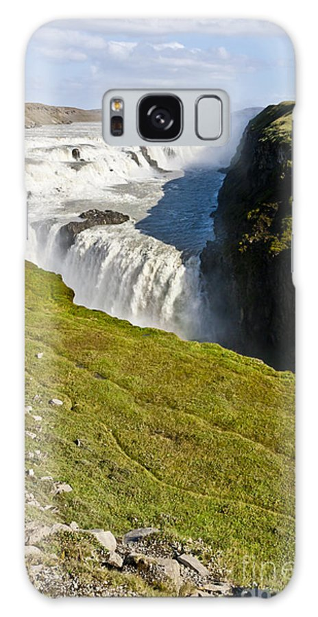 Gullfoss Galaxy S8 Case featuring the photograph Gullfoss Iceland by F Innes - Finesse Fine Art