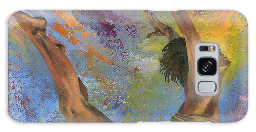 Aerialist Galaxy S8 Case featuring the painting Effervescence by Don Michael Jr