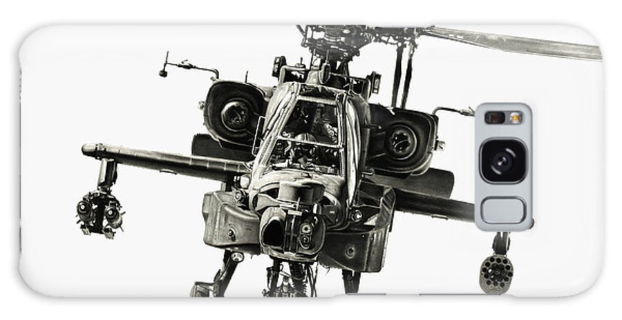 Apache Helicopter Galaxy S8 Case featuring the drawing Gunship by Murray Jones