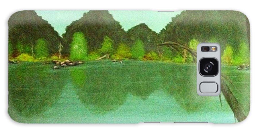 Landscape Galaxy S8 Case featuring the painting Guntersville Lake by Wanda Lane