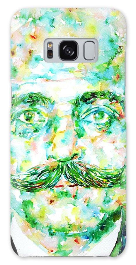 Gurdjieff Galaxy S8 Case featuring the painting Gurdjieff- Watercolor Portrait by Fabrizio Cassetta