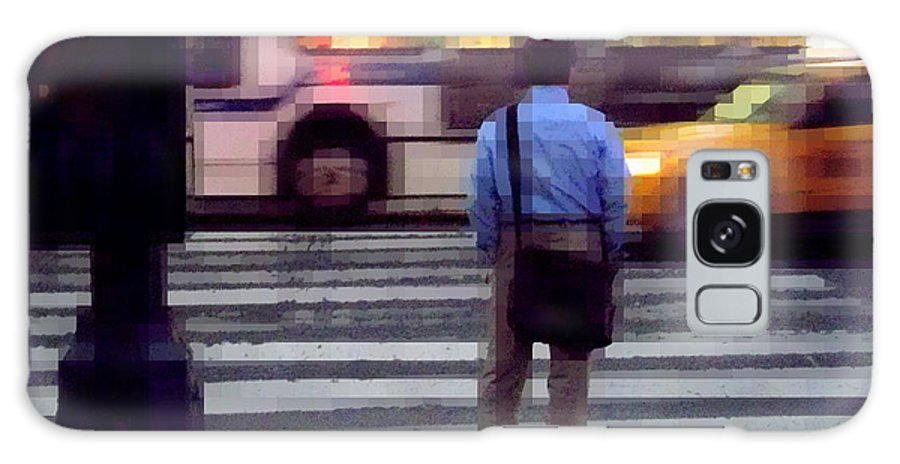 Traffic Galaxy S8 Case featuring the photograph Crossing The Street - Traffic by Miriam Danar