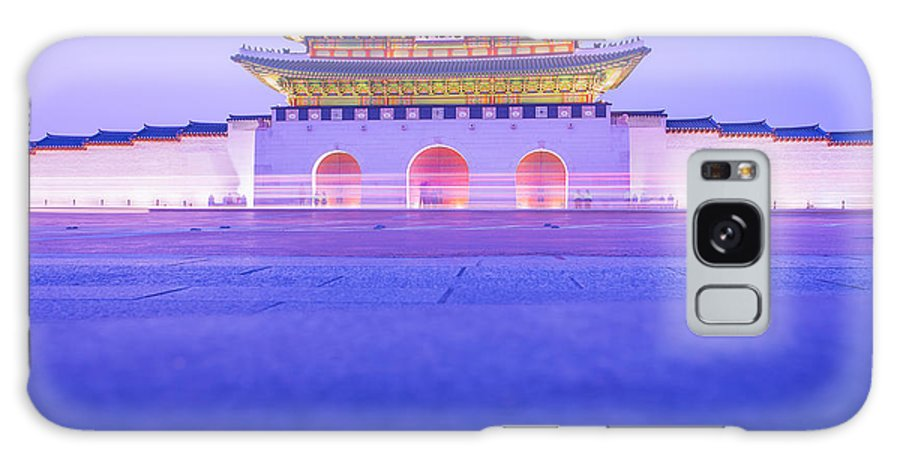 Abstract Galaxy S8 Case featuring the photograph Gyeongbokgung Palace In Seoul South Korea by Nattee Chalermtiragool