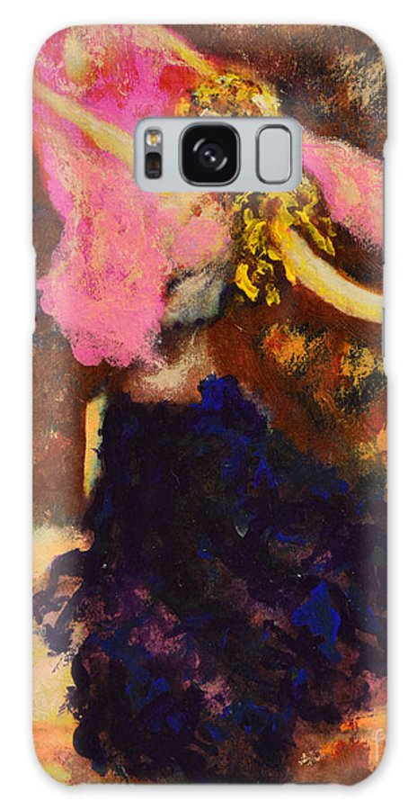 Gypsy Galaxy S8 Case featuring the painting Gypsy Dancer by Alys Caviness-Gober