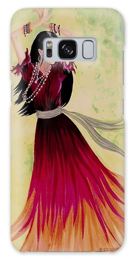 Gypsy Dancer Galaxy S8 Case featuring the painting Gypsy Dancer by Sophia Schmierer