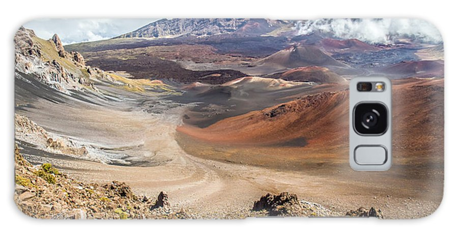 Haleakala Galaxy S8 Case featuring the photograph Haleakala Volcano Crater by Pierre Leclerc Photography