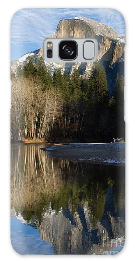 California Galaxy S8 Case featuring the photograph Half Dome And Cottonwoods Reflected In Merced River by Dan Hartford