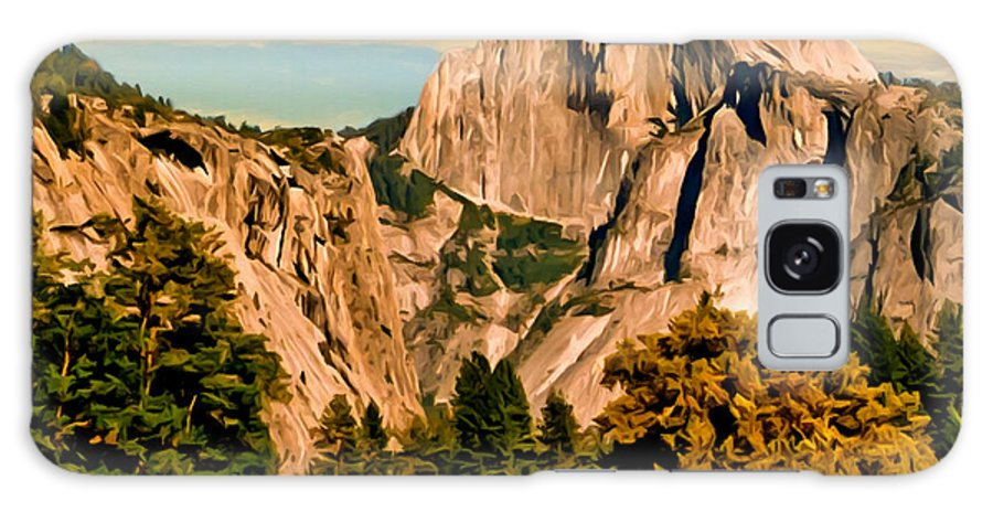 Bob Johnston Galaxy S8 Case featuring the painting Half Dome Painting by Bob and Nadine Johnston