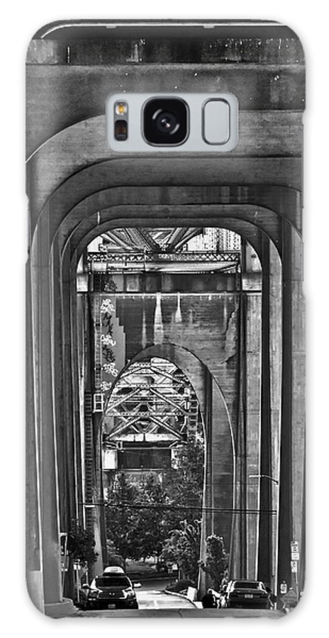 Seattle Galaxy S8 Case featuring the photograph Hall Of Giants - Beneath The Aurora Bridge by Allen Sheffield