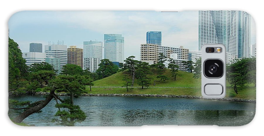 Japanese Galaxy S8 Case featuring the photograph Hama Rikyu Japanese Garden by Jonah Anderson