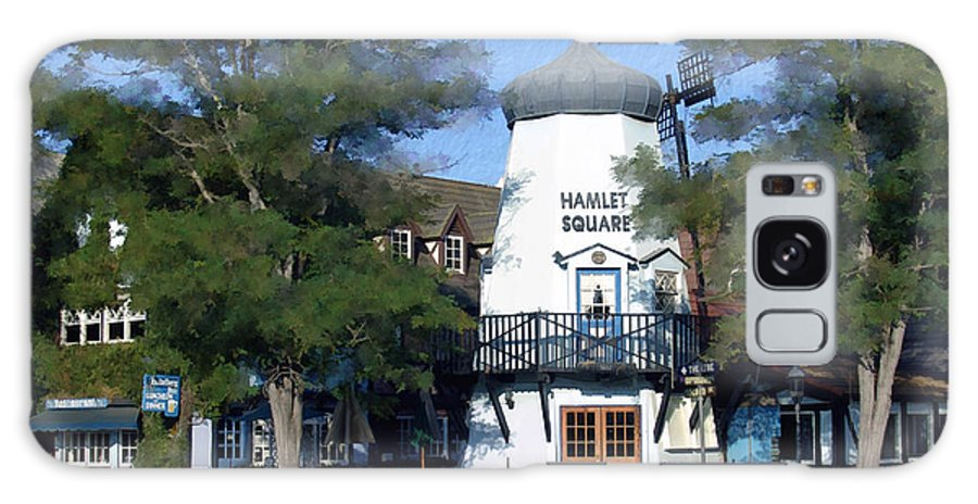 Solvang Galaxy S8 Case featuring the photograph Hamlet Square Solvang California by Kurt Van Wagner