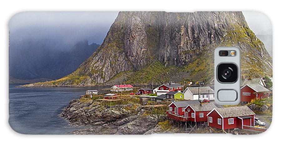 Galaxy S8 Case featuring the photograph Hamnoy Rorbu Village by Heiko Koehrer-Wagner