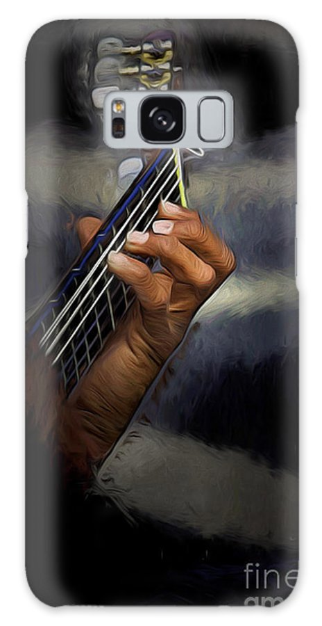 Spanish Guitar Galaxy Case featuring the photograph Hand of a Spanish Guitarist by Sheila Smart Fine Art Photography