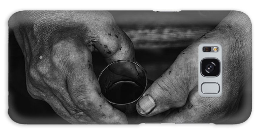 Wine Galaxy S8 Case featuring the photograph Hands Of An Worker by Fabian Roessler