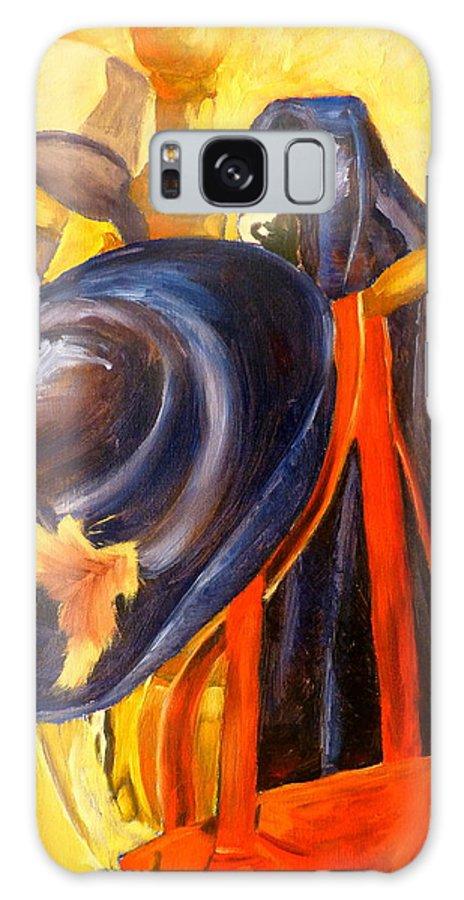 Still Life Galaxy S8 Case featuring the painting Hang-ups by Deborah Carroll