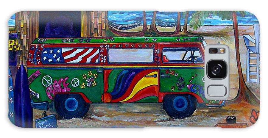 Beach Galaxy S8 Case featuring the painting Hanging Ten by Patti Schermerhorn