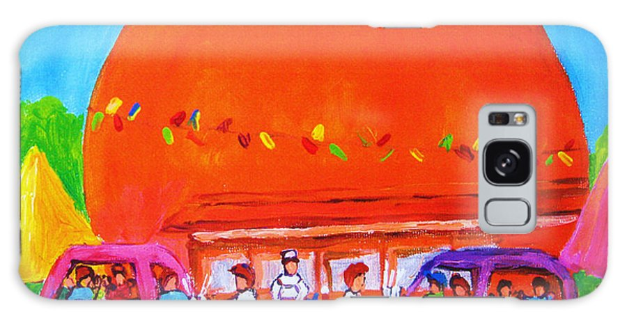 Montreal Galaxy S8 Case featuring the painting Happy Days At The Big Orange by Carole Spandau