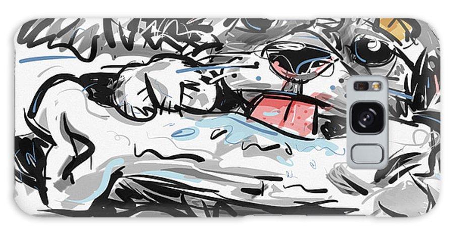 Dog Galaxy S8 Case featuring the digital art Happy Dog by Brett LaGue