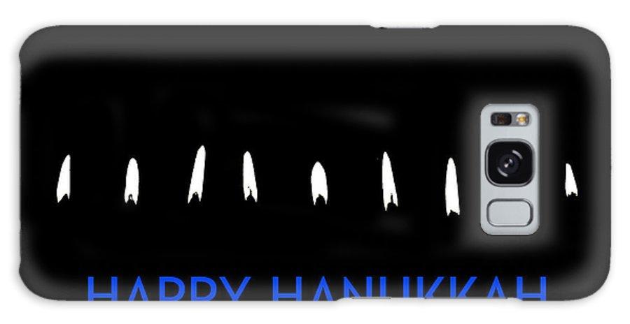 Hanukkah Greeting Card Galaxy S8 Case featuring the photograph Happy Hanukkah 2 by Fraida Gutovich