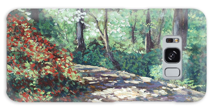 Flower Landscape Paintings Galaxy Case featuring the painting Happy Trails To You by David Zimmerman