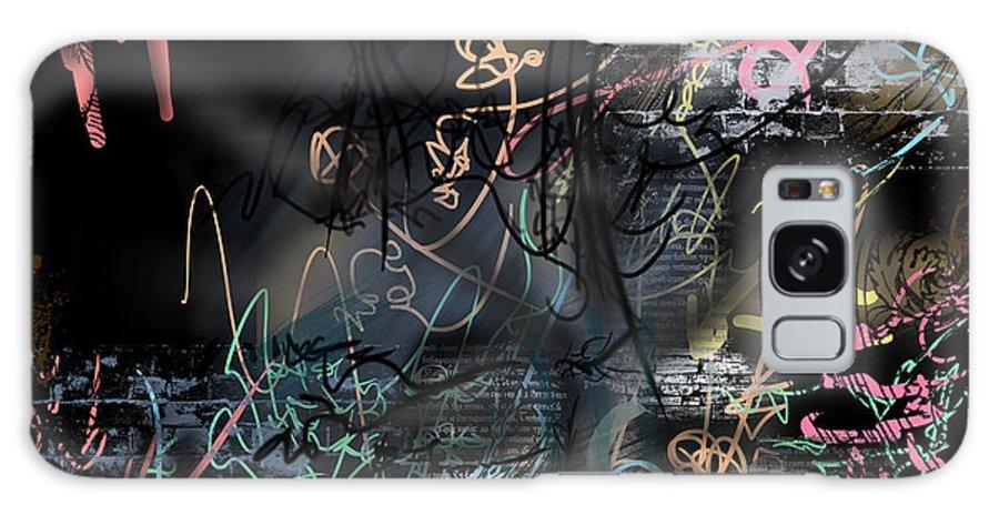 Happybirth - Pinkdanielsaesthetics Galaxy S8 Case featuring the mixed media happyBirth - Pink by Daniels Aesthetics