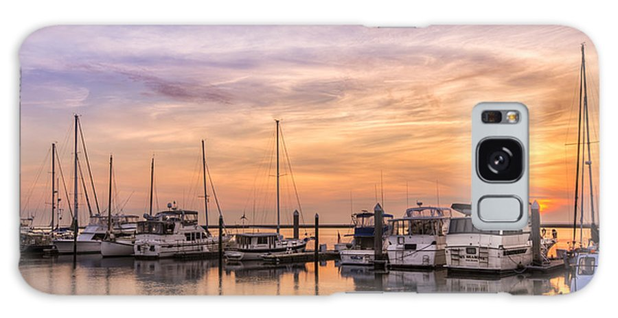 Boats Galaxy S8 Case featuring the photograph Harbor At Jekyll Island by Debra and Dave Vanderlaan
