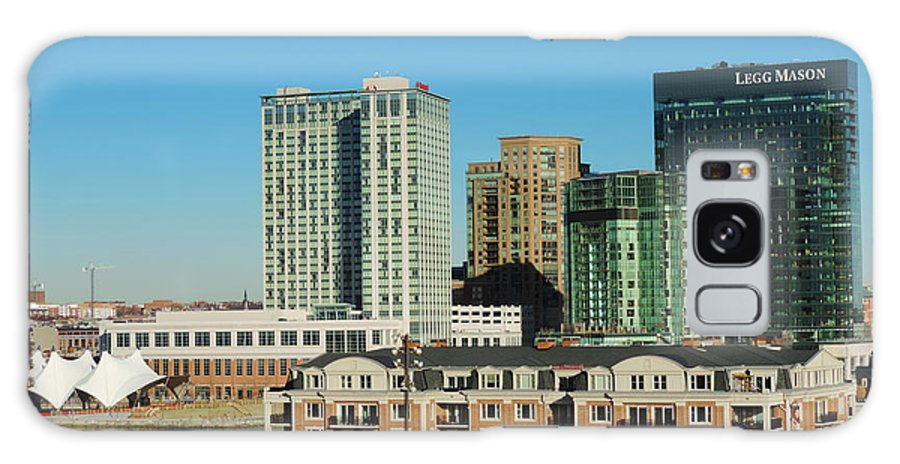 American Architecture Baltimore Bay Beach Bird Boat Building Busy Cars Center City Cityscape Constellation Day District Downtown Famous Federal Harbor Hill History Inner Lake Landmark Landscape Light Maryland Metropolis Metropolitan Old Pit Ripples Sail Sand Ship Sky Skyline Skyscraper States Street Tourism Town Trade Traffic Travel United Urban Usa Uss Water Winter World East Galaxy S8 Case featuring the photograph Harbor East Complex In Baltimore From Federal Hill by Cityscape Photography