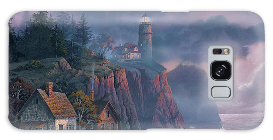 Michael Humphries Galaxy Case featuring the painting Harbor Light Hideaway by Michael Humphries