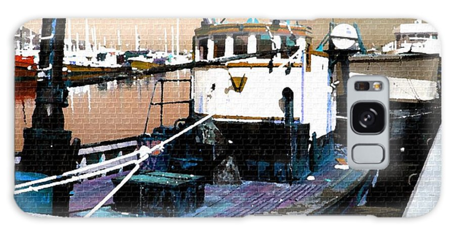 Art Galaxy S8 Case featuring the painting Harbour Scene by Gert J Rheeders