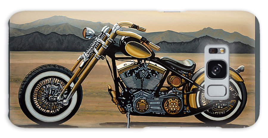 Harley Davidson Galaxy S8 Case featuring the painting Harley Davidson by Paul Meijering