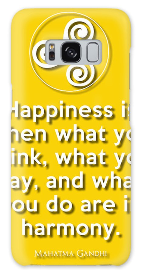 Wisdom Galaxy S8 Case featuring the digital art Harmony Yellow by Splendid Notion Series