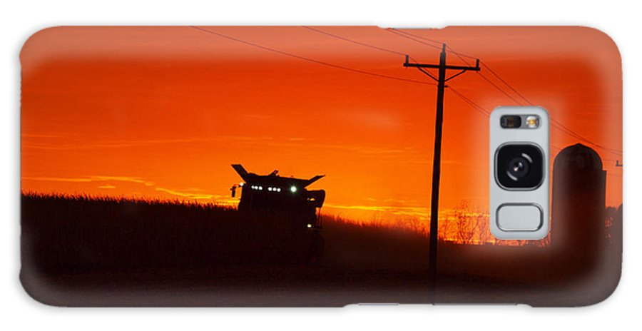 Sunset Galaxy S8 Case featuring the photograph Harvest At Sunset by Rural America Scenics