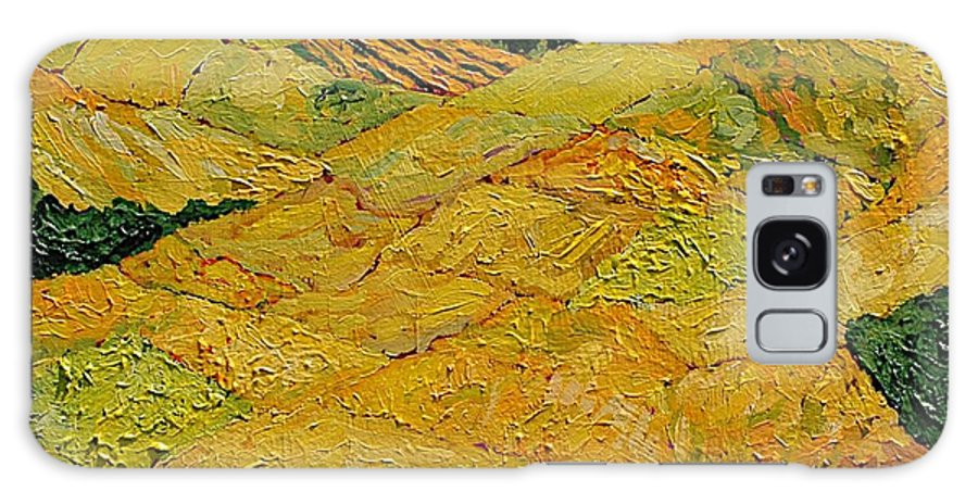 Landscape Galaxy S8 Case featuring the painting Harvest Joy by Allan P Friedlander